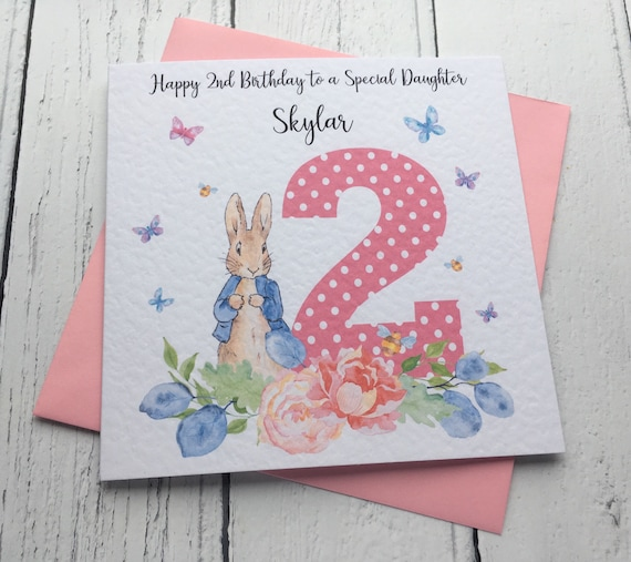 Personalised 2nd Birthday Card For Daughter GrandDaughter Niece Cousin Notecards Greeting Cards