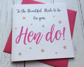 Hen do card ~ Hen party ~ miss to mrs ~ bride to be ~ bride tribe