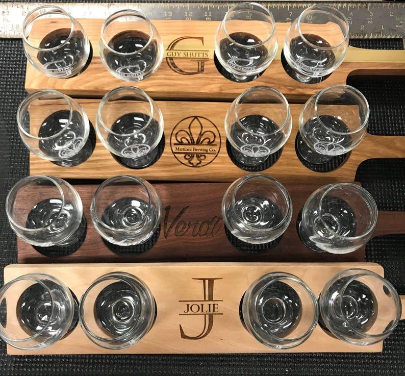 Custom Beer Flights with Glasses image 0