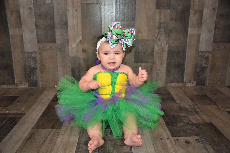 Ninja turtle inspired tutu dress