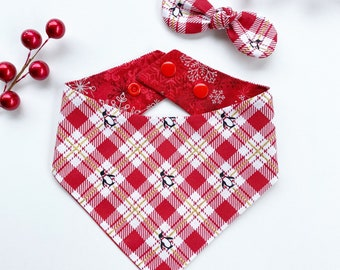 Gingerbread and musical pet accessory over the collar Seasons Dog Bandana Christmas dog bandana easy snap-on dog bandana