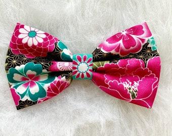 Chinese Brocade Bow Oriental Hair Clip Lunar Barrette Asian Wedding Hair Clip Red Metallic Bow Lunar New Year Asian Hair Bow