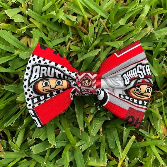 9b587a58ee10e Ohio State Buckeyes Dog Bow tie, Buckeyes dog bow tie, Ohio state dog bow  tie, Ncaa college football, Sports dog bow tie, OSU, Gobucks,