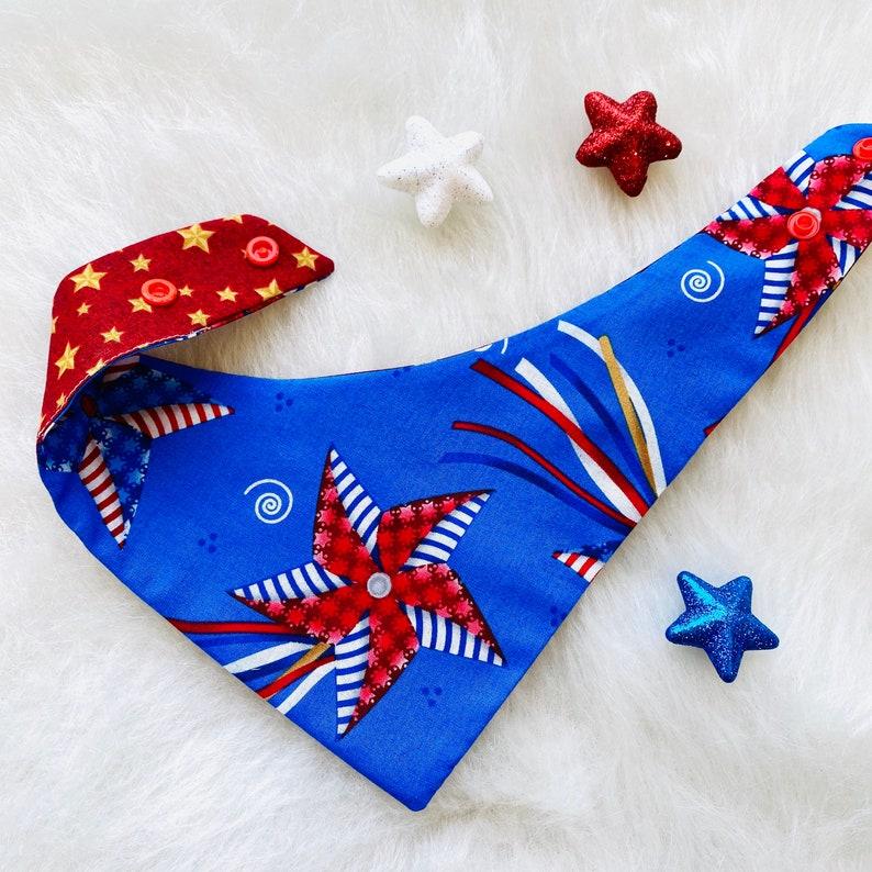 Patriotic Wind Spinner Dog Bandana
