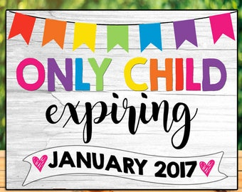 Rainbow Pregnancy Announcement Chalkboard, Only Child Expiring Pregnancy Announcement Sign, Promoted To Big Sister Announcement Big Brother