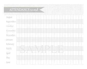 Add-On: Attendance Sheet Pages for Lesson Planner