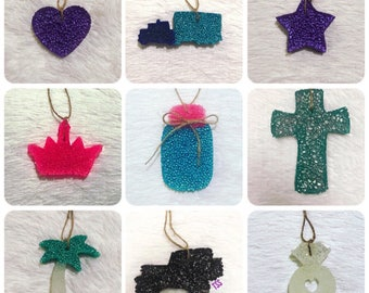 Car Scent- Pick Your Color/Scent/Shape - Aroma Bead Air Freshener