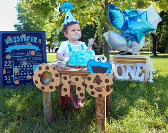 Cookie Monster ONE banner First birthday banner