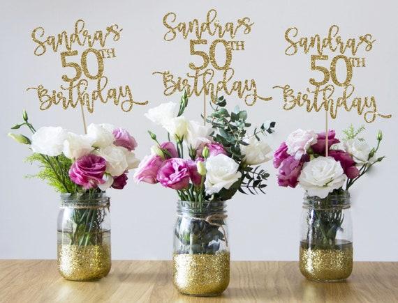 50th birthday centerpieces 50th centerpieces 50th birthday