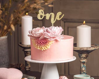 One cake topper first birthday cake topper one smash cake topper birthday cake topper 1st birthday gold cake topper first birthday party