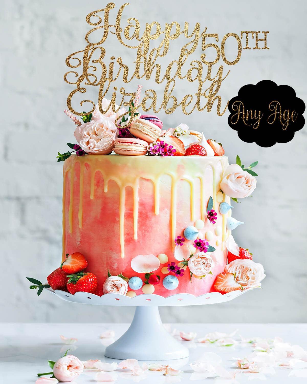 50th Birthday Cake Topper 50th Birthday Decor 50 Cake