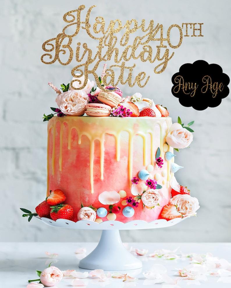 40th Birthday Cake Topper 40th Birthday Decor 40 Cake Topper