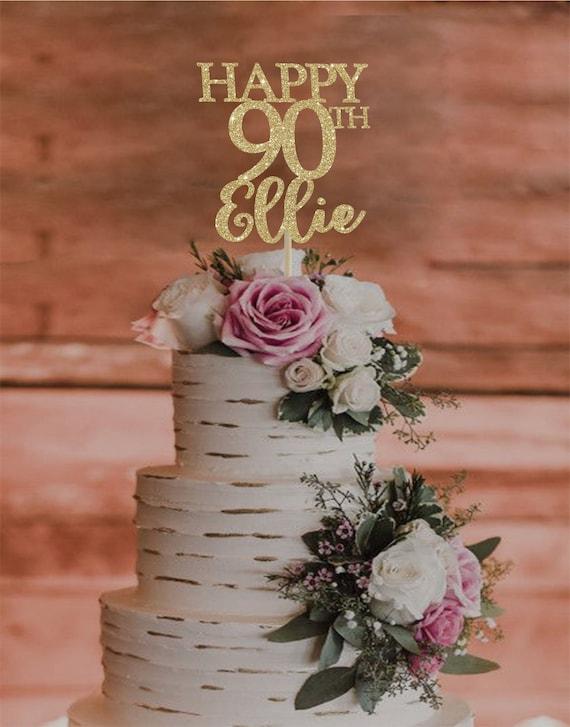 90th Birthday Cake Topper Any Age Happy