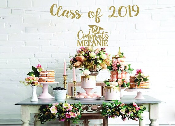 Graduation Cake Topper Class Of 2019 Cake Top Graduation Party Etsy