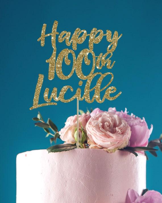 100 Cake Topper Birthday
