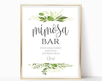 picture relating to Mimosa Bar Sign Printable known as Mimosa bar printable Etsy