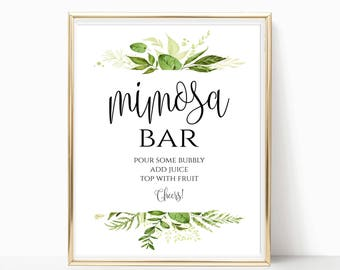 picture relating to Mimosa Bar Sign Printable named Mimosa bar printable Etsy