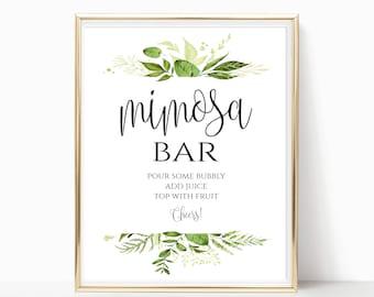 image about Mimosa Bar Sign Printable Free known as Mimosa bar printable Etsy