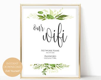 image relating to Wifi Password Printable Free titled We incorporate wifi indicator Etsy