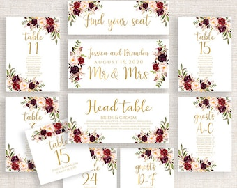 alphabetical or numerical seating chart wedding seating chart cards seating chart template wedding seating cards printable instant download