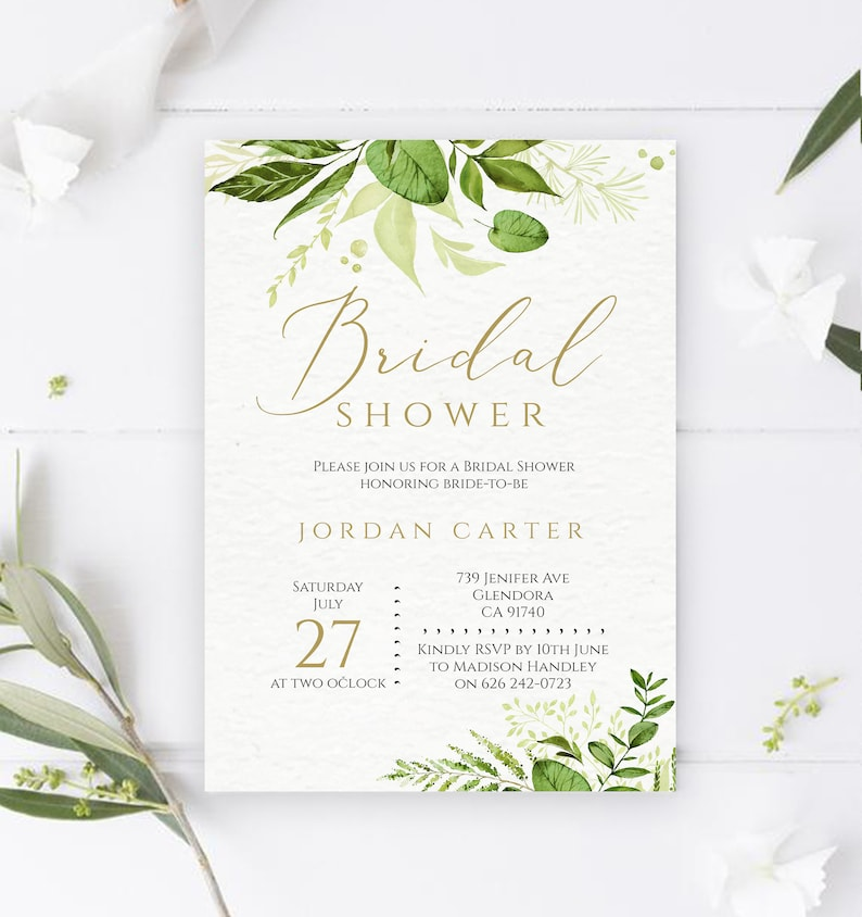 Instant Download DIY Editable Invite Template Editable Bridal Shower Invitation and Printable Recipe Card Template Bridal Shower Invite