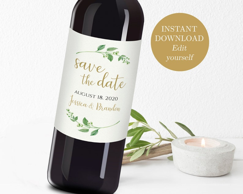 photograph relating to Printable Wine Label known as Marriage ceremony Wine Printable Wine Label Template Wine Bottle Labels Preserve the Day Wine Label Printable Help save the Day Suggestions Wine Bottles Jasmine
