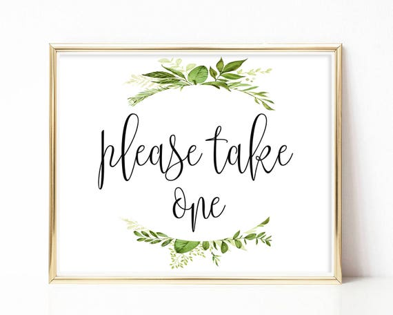 photo regarding Please Take One Sign Printable called Printable You should Consider A single Indicator Marriage Prefer Indication Reception Indicators Get together Favors Bridal Shower Indicator Landscape Indicator Do it yourself 8x10, 5x7, 4x6 Greenery