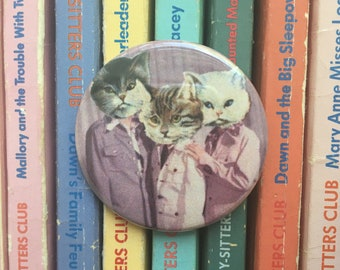cat friends button