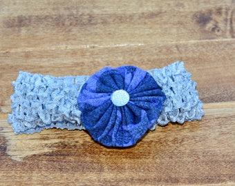 """1.5"""" Gray Crochet Headband"""