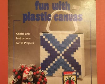 Vintage Coats and Clark fun with plastic canvas