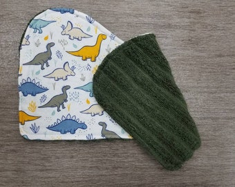 Prehistoric Dinosaur Flannel Baby Burp Cloths, Flannel, Baby Shower Gift, New Baby, Baby Boy, Dinosaurs, Dinos, Terry Cloth, Burp Rags