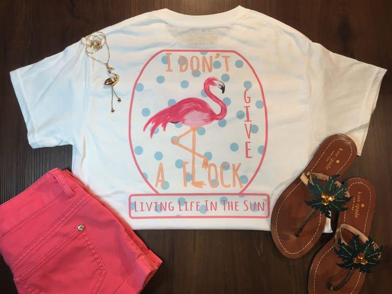 Flamingo Shirt Beach Tees Shirts With Sayings I Etsy