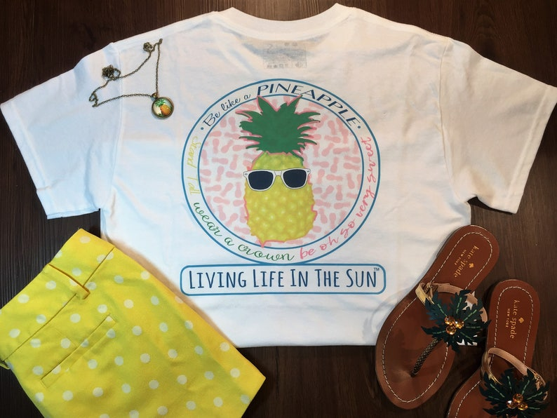 Pineapple Shirt Beach Tees Shirts With Sayings Be Like A Etsy