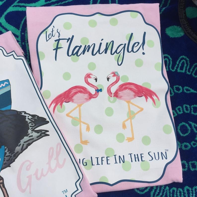 Flamingo Shirt Beach Tees Shirts With Sayings Lets Etsy