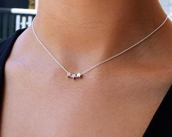 Star necklace, dainty necklace, dainty star necklace, silver necklace, dainty silver necklace, silver necklace dainty, thin silver chain