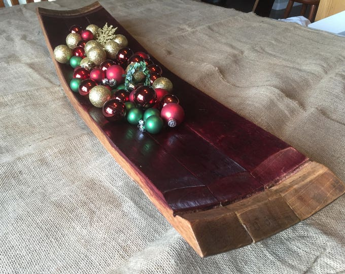 Featured listing image: Wine barrel stave tray