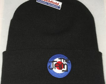 Embroidered Northern Soul KTF Mods Target Punk Rock The Jam Badge Not Patch  Warm Winter Mod Ski Beanie Hat Present Gift Unisex Men Women 01eb0cd6cbc2