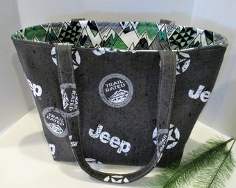 Mountains Jeep Purse Bag For Girls With Jeeps Gift The Lover Small Handmade Cotton Fabric Tote Made To Order