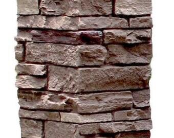 NextStone Slatestone 8x8 Faux Polyurethane Post Cover Brunswick Brown