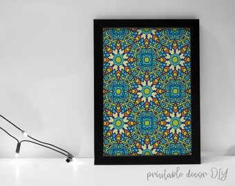 Boho rivestimenti stampabile arte marocchina boho etsy