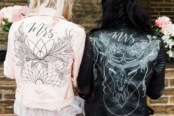 Hand Painted Bridal Jacket