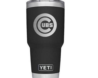 Chicago Cubs  Yeti Cup,Engraved Yeti Cup,Personalized Yeti Cup,Custom Monogram, RTIC, Rambler