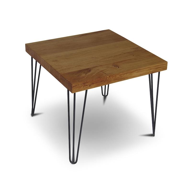 Poutres Table Basse 60 X 60 Cm Sauvage Chene Massif Bois Rustique Cote Table Naturel Table Salon Table Salon Table Bar Table