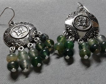 MOSS Agate - Union with the energies and spirits of nature earrings