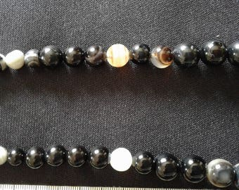 Long natural Onyx necklace