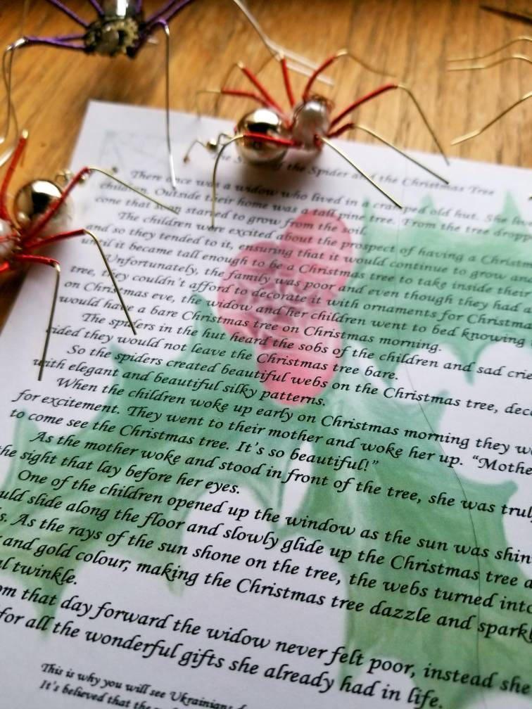 Die Weihnachts-Spinne...   Etsy