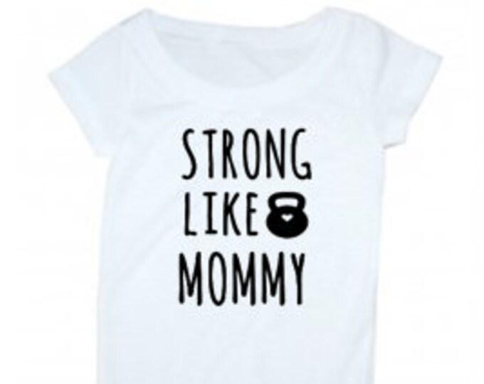 Strong Like Mommy / preemie girl bodysuit / athletic baby girl bodysuit / preemie boy bodysuit / athletic baby boy bodysuit