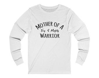 Preemie mom / prematurity awareness / nicu mom / preemie mom shirt / mom shirt / NICU Grad /Mother of a Tiny and Mighty Warrior