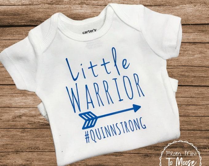 Personalized bodysuit / preemie boy bodysuit / preemie girl bodysuit /little warrior / preemie fighter / baby girl bodysuit /preemie clothes