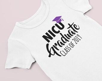 NICU Graduate Bodysuit / NICU Graduate / preemie bodysuit / NICU Grad / personalized bodysuit / preemie girl bodysuit / preemie boy bodysuit
